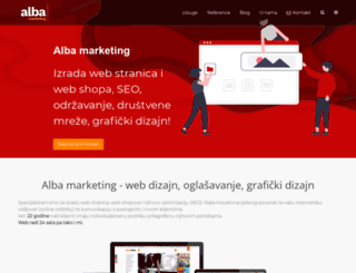 alba-marketing.hr screenshot