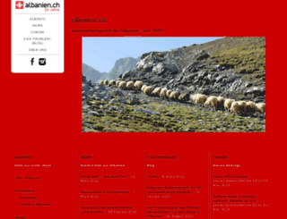 albanien.ch screenshot