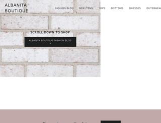albanitaboutique.com screenshot