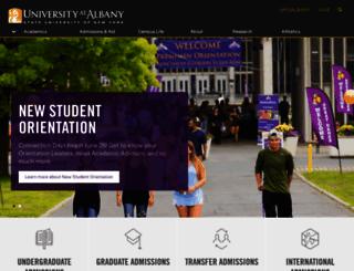 albany.edu screenshot