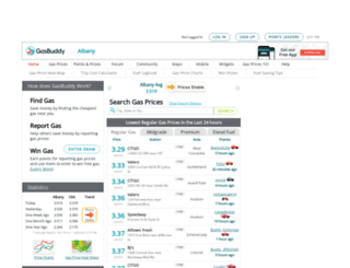 albanygasprices.com screenshot