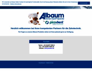 albaumdental.de screenshot