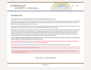albemarlecountytaxes.org screenshot