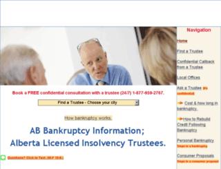 alberta.bankruptcycanada.com screenshot