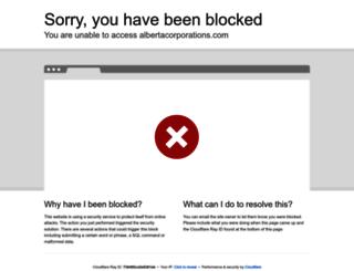 albertacorporations.com screenshot