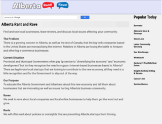 albertadirectory.com screenshot