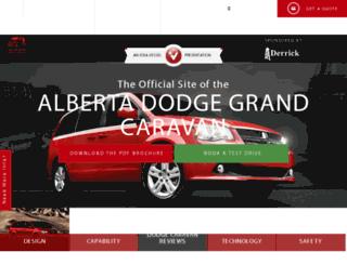 albertadodgecaravan.com screenshot