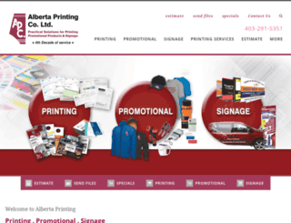 albertaprinting.com screenshot