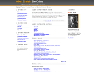 alberteinsteinsite.com screenshot