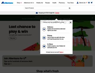albertsons.com screenshot