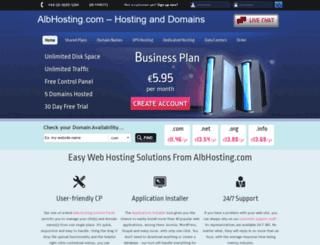 albhosting.com screenshot