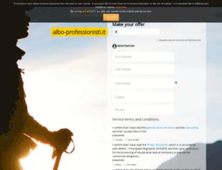 albo-professionisti.it screenshot