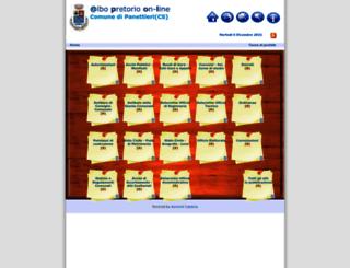 albopanettieri.asmenet.it screenshot