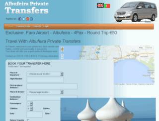 albufeiraprivatetransfers.com screenshot