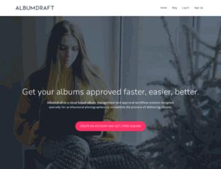 albumdraft.com screenshot