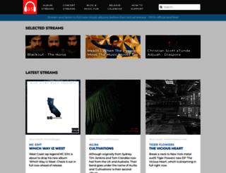 albumstreams.com screenshot