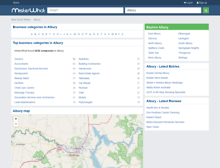 albury.misterwhat-au.com screenshot