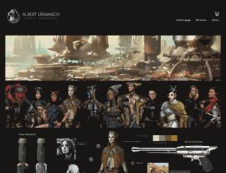 albyu.artstation.com screenshot