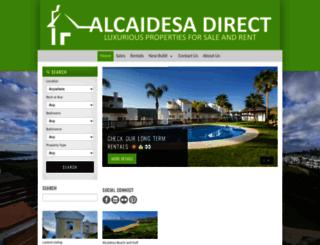 alcaidesadirect.com screenshot