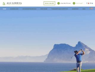 alcaidesagolf.com screenshot