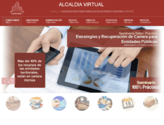 alcaldiavirtual.com.co screenshot