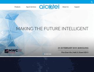 alcatel-mobilephones.com screenshot