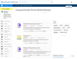 alcatel-phone-model.software.informer.com screenshot
