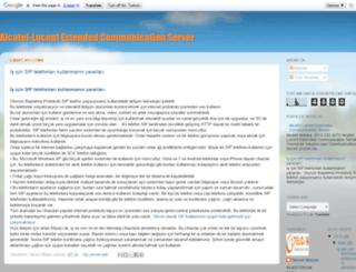alcatelextendedcommunicationserver.blogspot.com screenshot