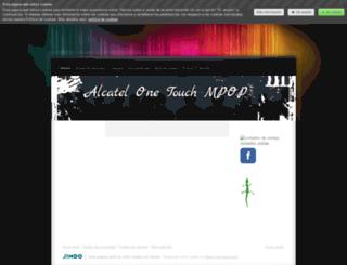 alcatelonetouchmpop2014.jimdo.com screenshot