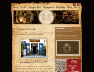 alchemiae.cz screenshot