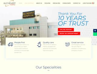 alchemisthospitals.com screenshot