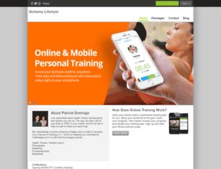 alchemylifestyle.trainerize.com screenshot