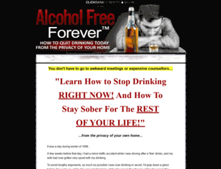 alcoholfreeforever.com screenshot