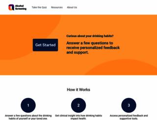 alcoholscreening.org screenshot