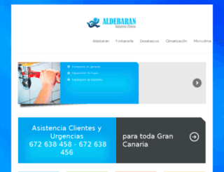aldebaraninstalaciones.com screenshot