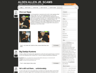 alden-allen-jr-scams.com screenshot