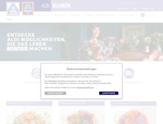 aldi-blumenservice.de screenshot