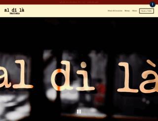 aldilatrattoria.com screenshot