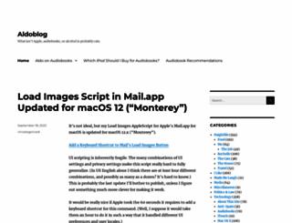 aldoblog.com screenshot