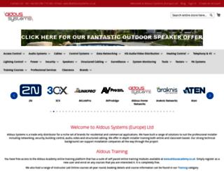 aldoussystems.co.uk screenshot