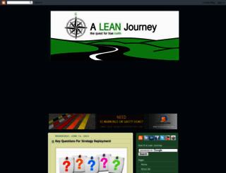 aleanjourney.com screenshot