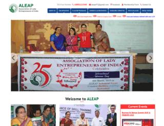 aleap.org screenshot
