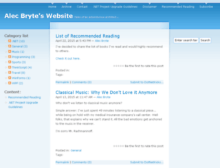 alecbryte.com screenshot