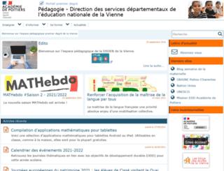 alecole.ac-poitiers.fr screenshot