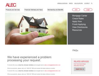alecu.mortgagewebcenter.com screenshot