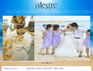 alegrebeachresort.com screenshot