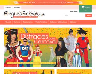 alegresfiestas.com screenshot