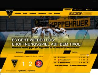 alemannia-aachen.de screenshot