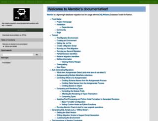 alembic.readthedocs.org screenshot
