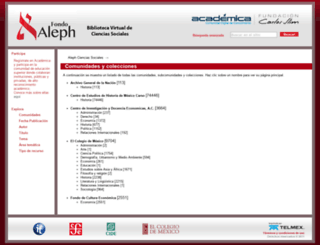 aleph.academica.mx screenshot